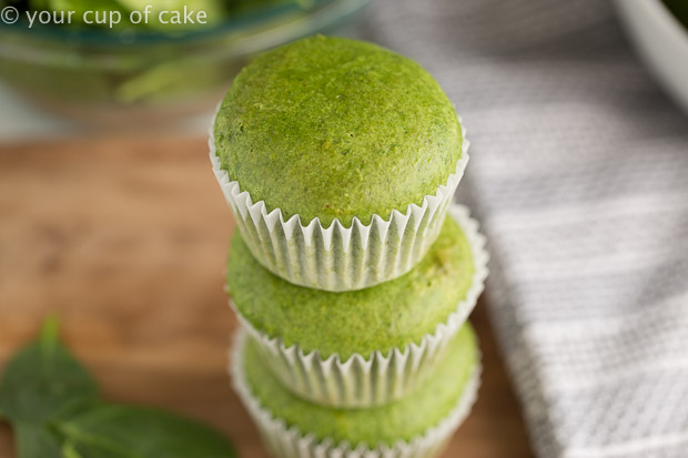 Green Machine Spinach Muffins, these are so bright and colorful! They taste like banana muffins, yummy!