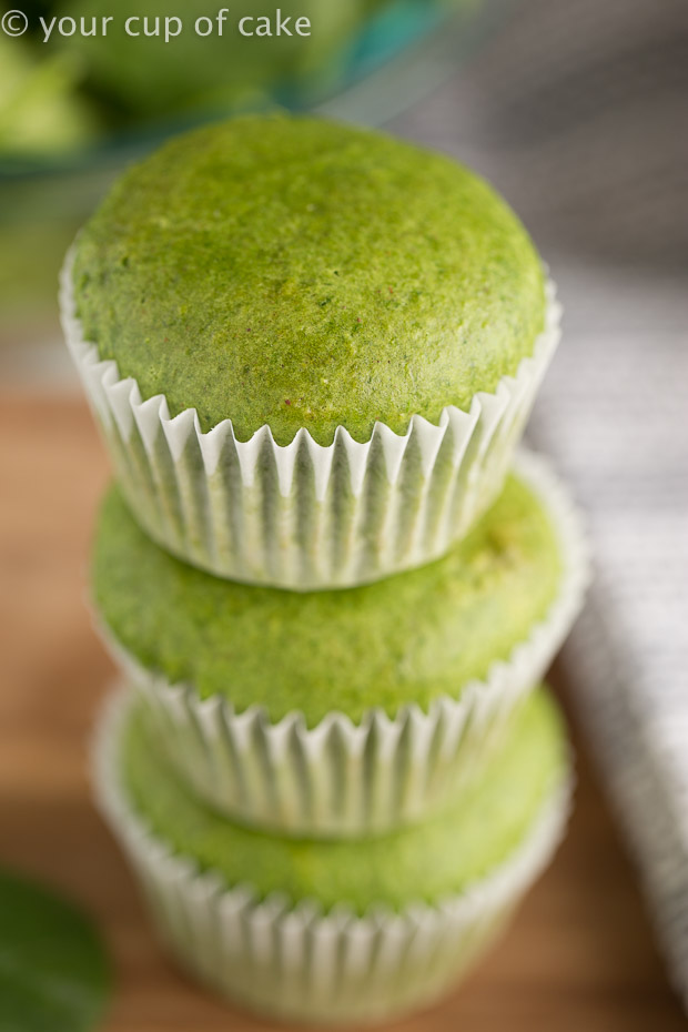 Green Machine Spinach Muffins (Egg Free) - Your Cup of Cake