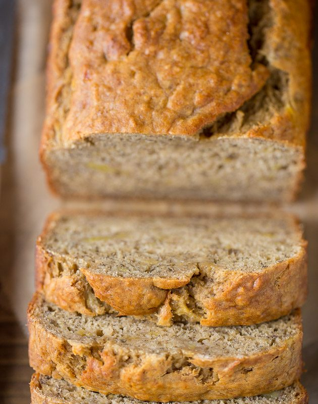 My new favorite recipe Skinny Banana Bread recipe with low sugar and low fat!