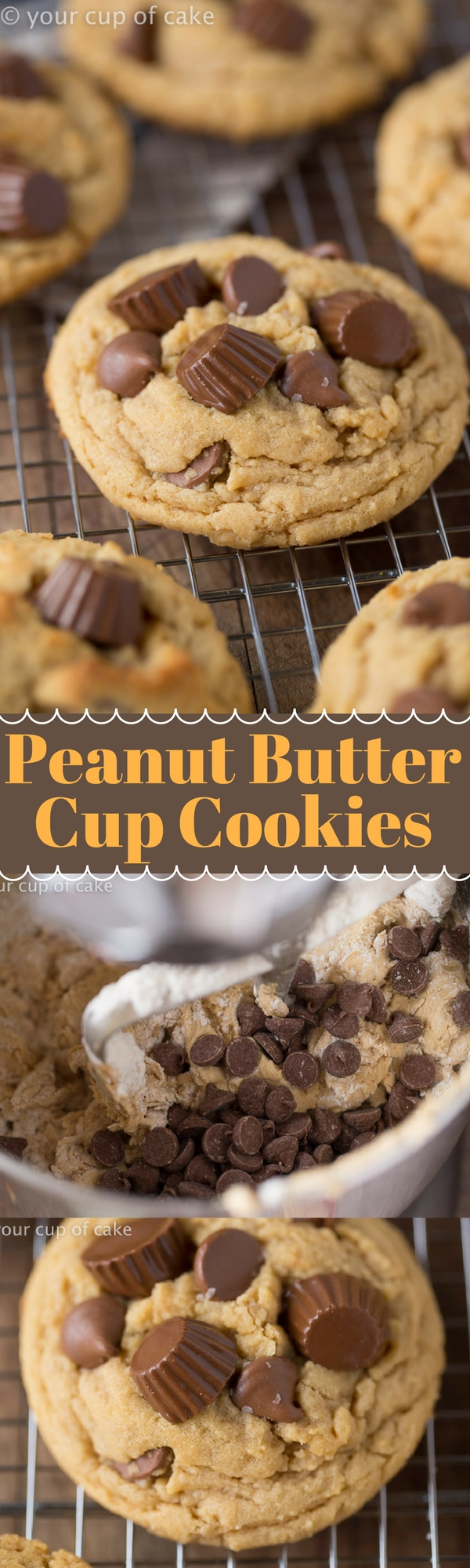 Reese's Peanut Butter Cup Cookies for peanut butter lovers!