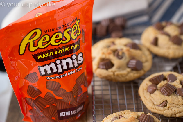 Reese's Peanut Butter Cup Cookies make with mini Reese's Peanut Butter Cups! These are SO good!