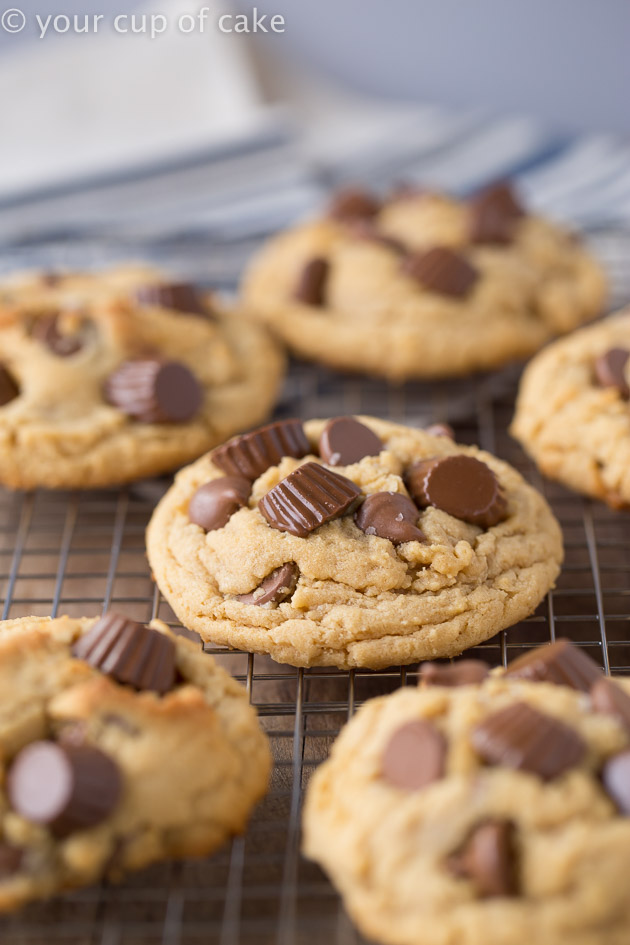 Reese's Peanut Butter Cup Cookies with milk chocolate chips!