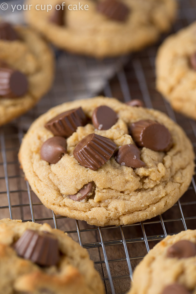 Bakery Style Reese's Peanut Butter Cup Cookies