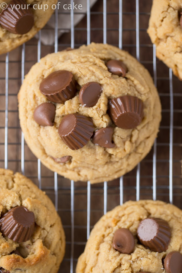 Reese's Peanut Butter Cup Cookie Recipe for pb lovers!