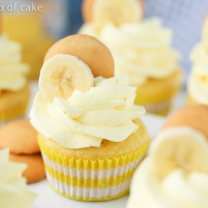 Banana Cream Cupcakes with Banana Whipped Cream