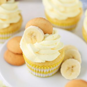 Banana Cream Cupcakes with Nilla Wafers and whipped cream!