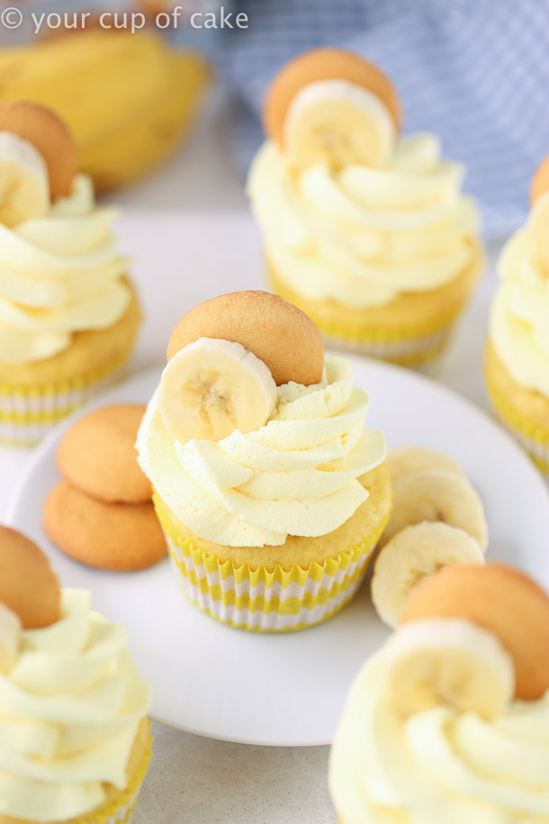 Banana Cream Cupcakes with whipped cream! YUM!