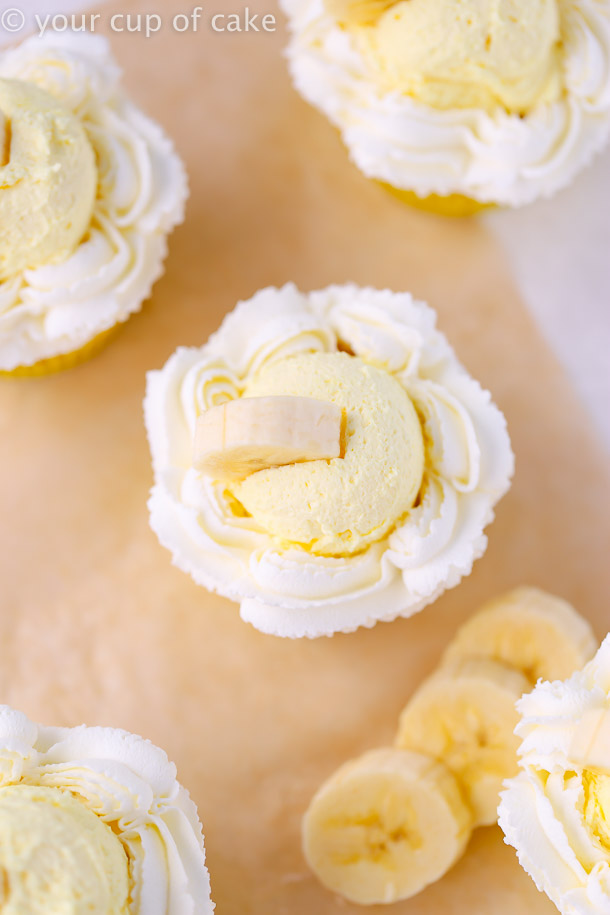 Cute Banana Cream Pie Cupcakes
