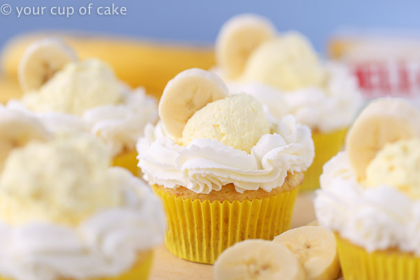 Easy Banana Cream Pie Cupcakes