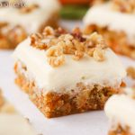 Carrot Cake Blondie Bars with Cream Cheese Frosting