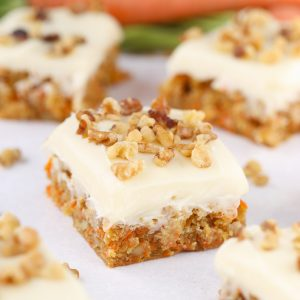 Carrot Cake Blondie Bars with cream cheese frosting, yum!