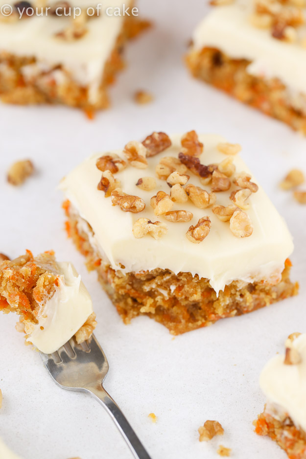 Carrot Cake Blondie Bars Recipe, these are awesome!
