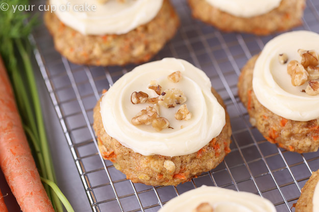 Carrot Cake Cookies with cream cheese cookies