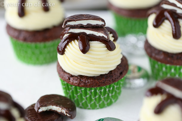 How to make Peppermint Pattie Cupcakes