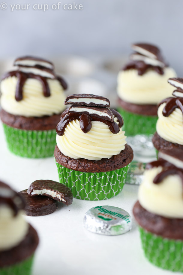 Easy Peppermint Pattie Cupcakes recipe