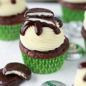 Easy Peppermint Pattie Cupcakes