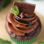 Triple Chocolate Mint Cupcakes with Andes Mints