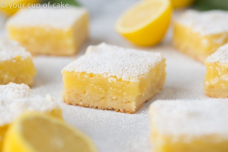 Zesty Lemon Bars! The best recipe there is!
