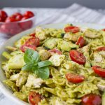 5 Ingredient Summer Pesto Pasta (AKA Costco Pasta)