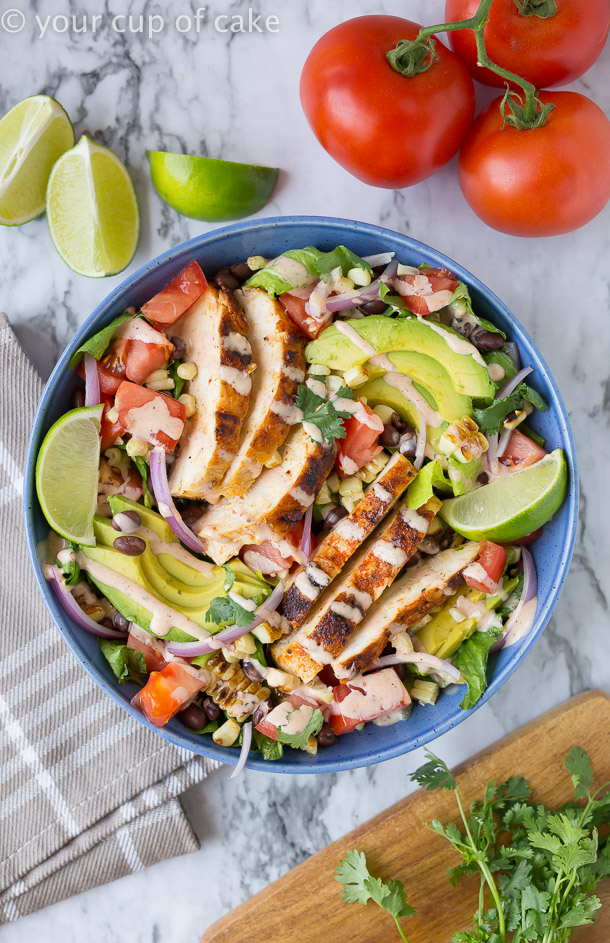Chipotle Southwest Chicken Salad is the perfect summer salad