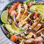 Chipotle Southwest Chicken Salad + 30-Second Dressing