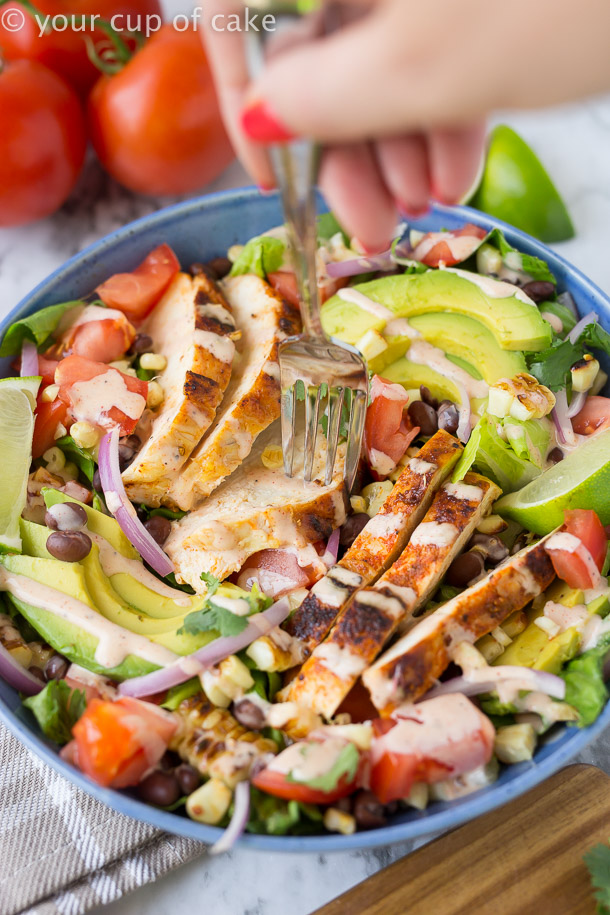 Amazing Chipotle Southwest Chicken Salad