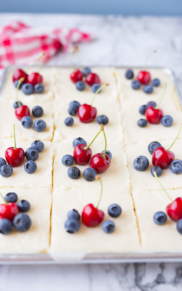 Red White and Blue Lemon Texas Sheet Cake Recipes