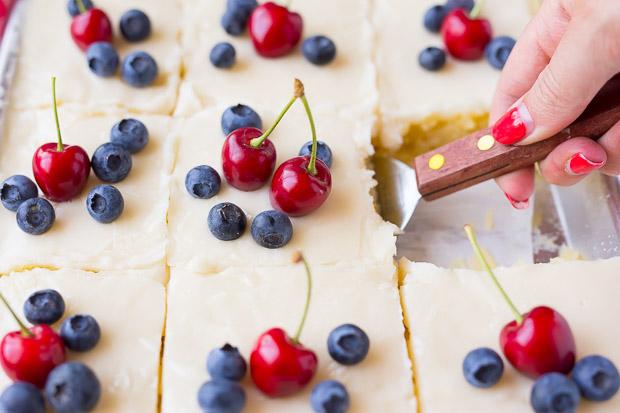 Red, White & Blue Lemon Texas Sheet Cake, oh wow!