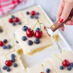 Red, White & Blue Lemon Texas Sheet Cake