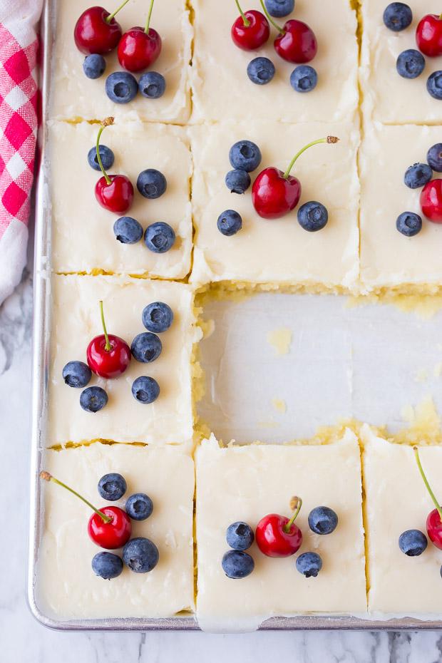 AMAZING White Texas Sheet Cake