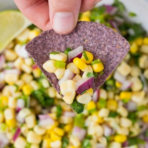This Copycat Chipotle Corn Salsa is AMAZING! So fresh and only 6 ingredients!