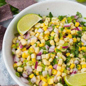 Recipe for Copycat Chipotle Corn Salsa