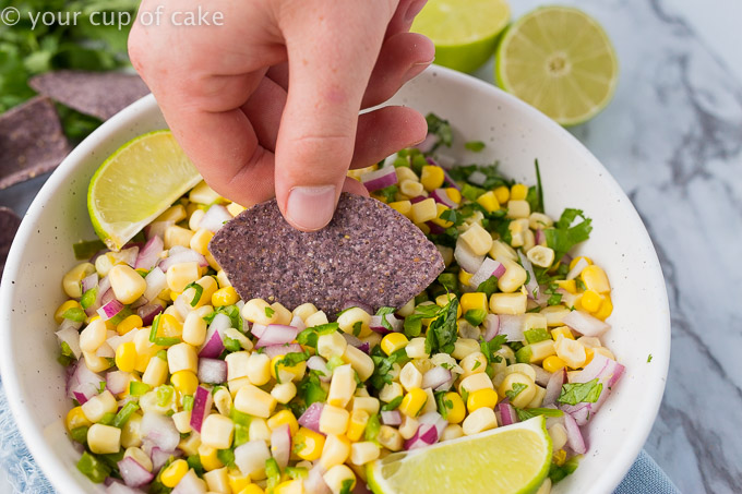 BEST Corn Salsa Recipe! And it's only 6 ingredients!