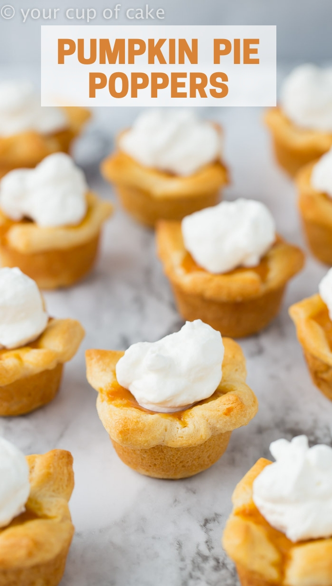 Pumpkin Pie Poppers are SO GOOD! And really easy to make with crescent dough!