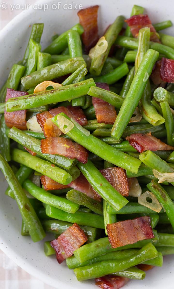 The best green bean recipe: Bacon Garlic Green Beans
