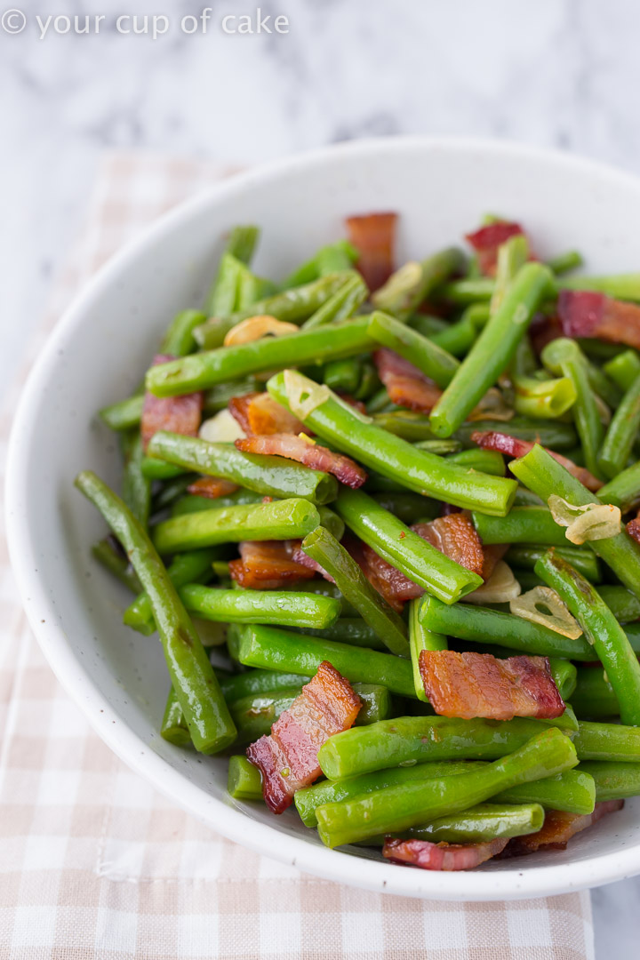 My family is OBSESSED with these Bacon Garlic Green Beans
