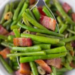 Bacon Garlic Green Beans [Best Green Beans EVER]