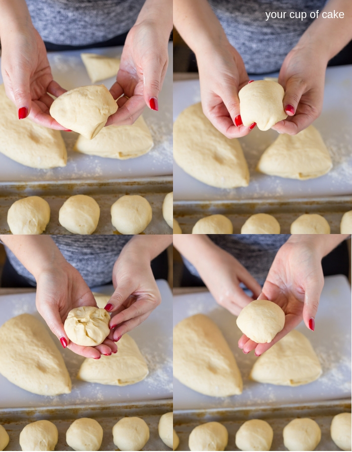 How to make a perfectly round dinner rolls
