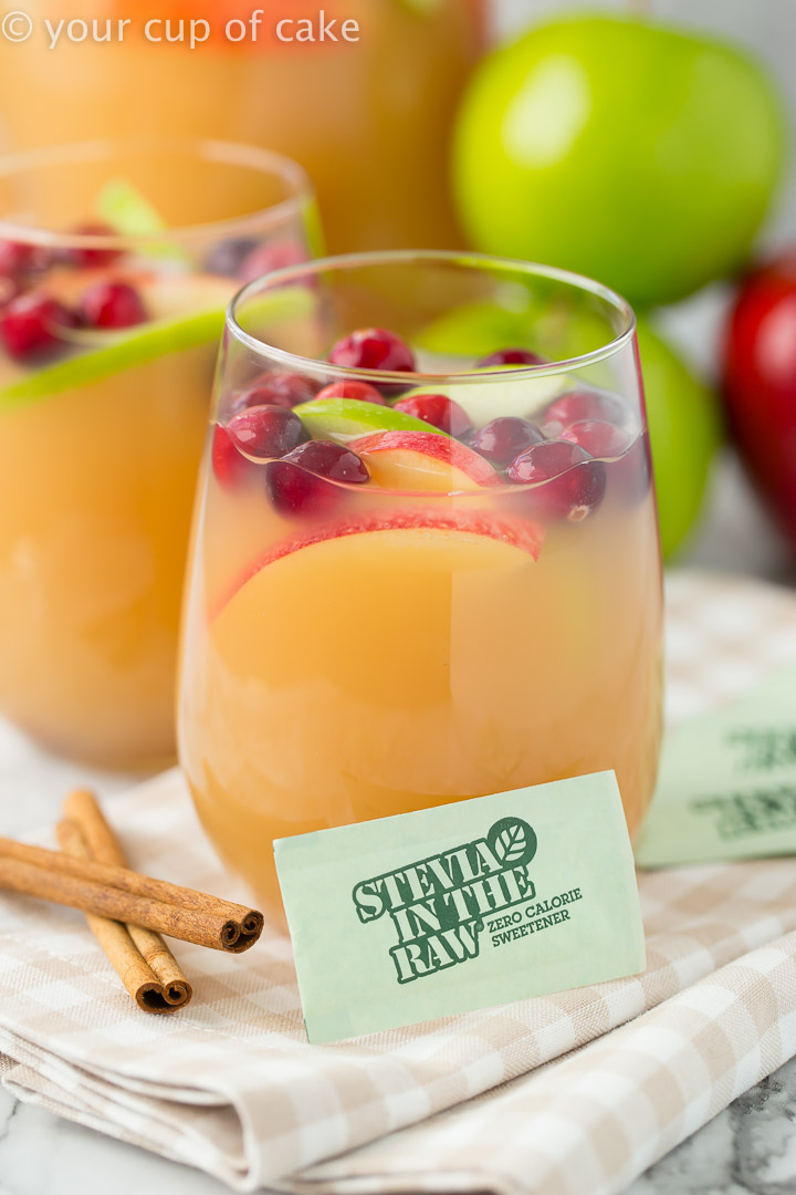 Sparkling Caramel Apple Cider for a fun Thanksgiving drink