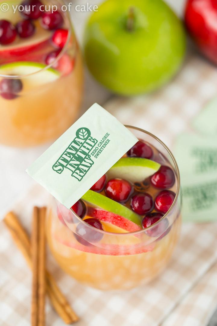 Sparkling Caramel Apple Cider with stevia