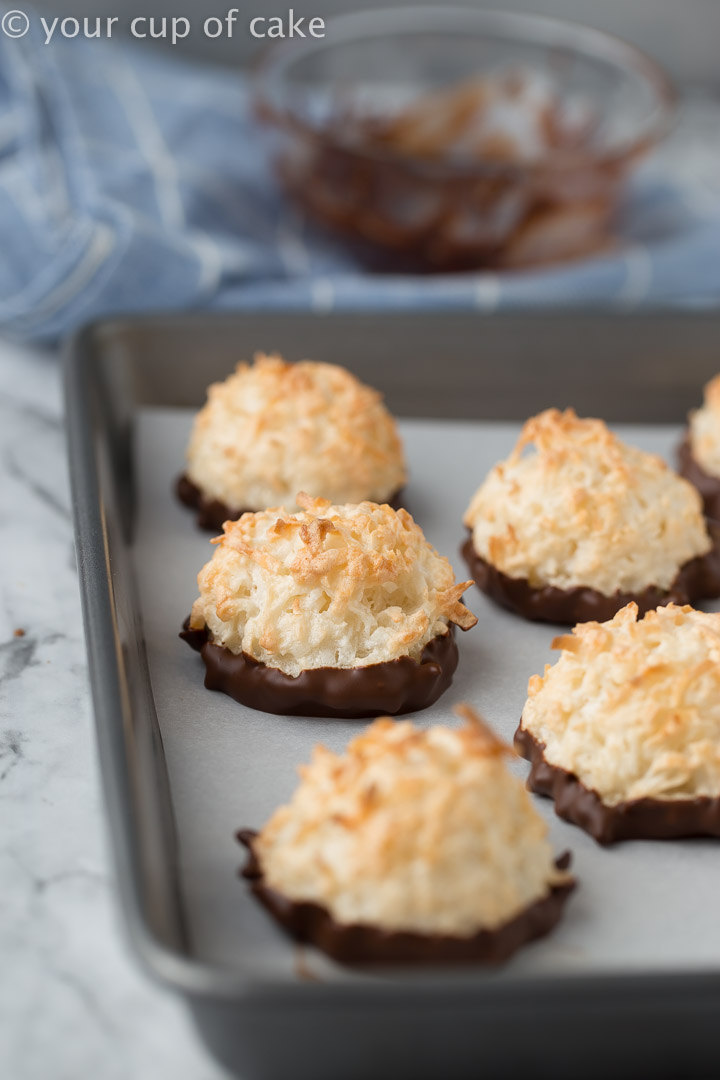 LOVE these Easy Coconut Macaroons, and they're gluten free!