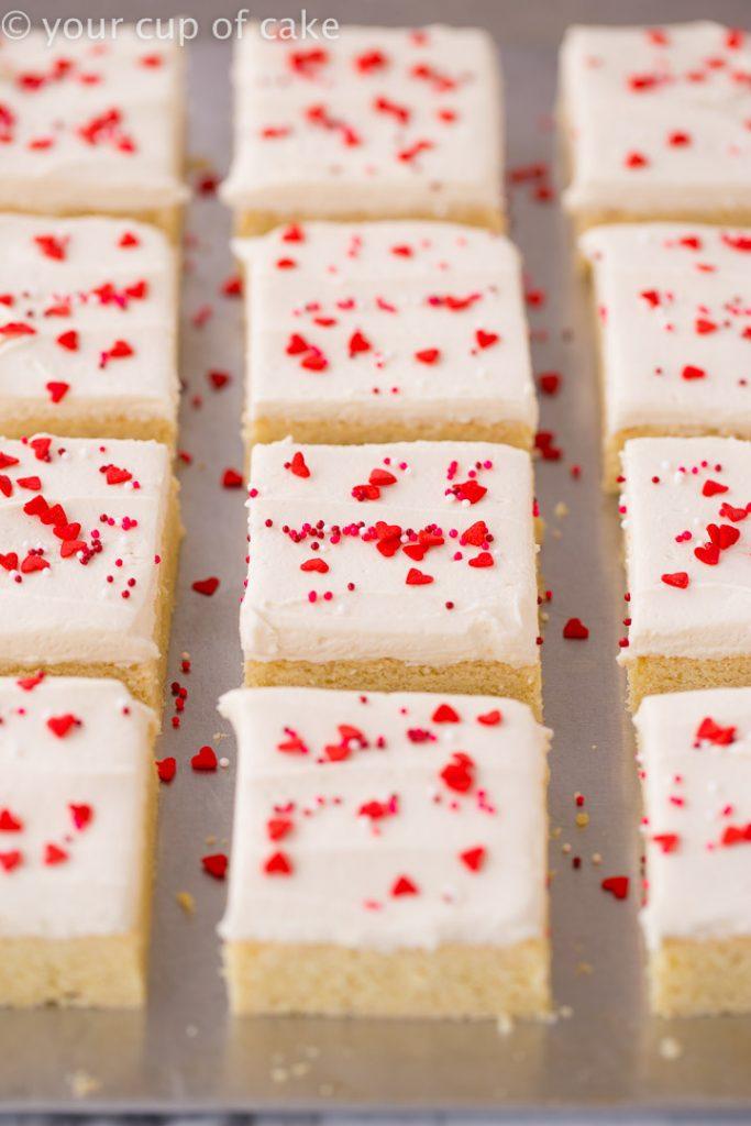 Cute Valentine dessert! THE BEST Sugar Cookie Bars
