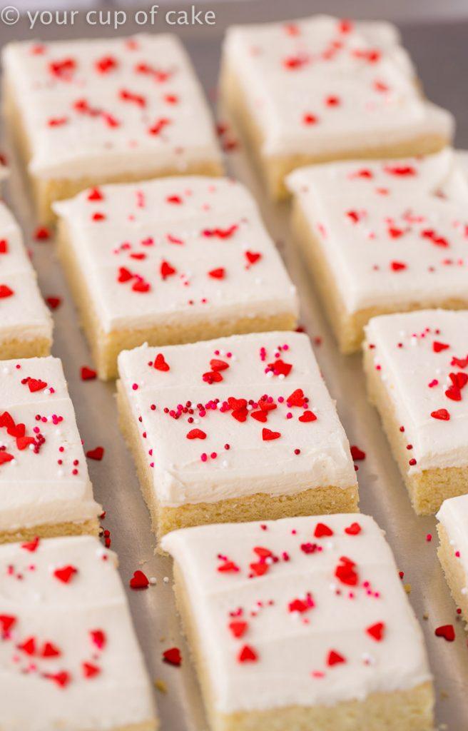 Love this Valentine treat THE BEST Sugar Cookie Bars