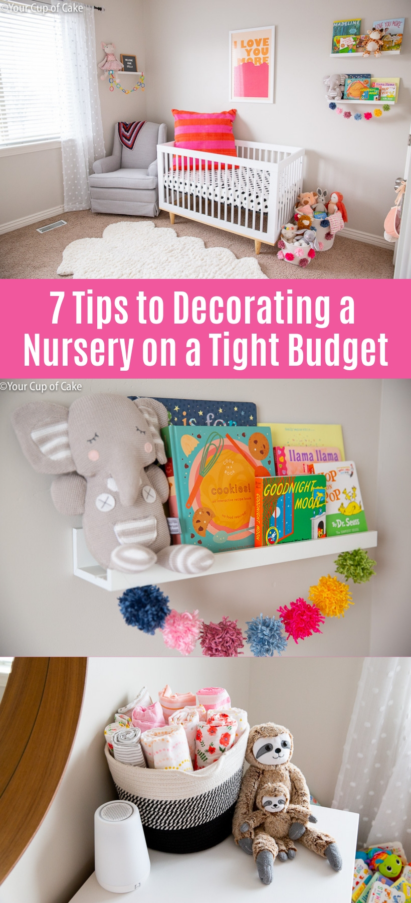 These tips are GREAT! How to Decorate a Nursery on a Budget