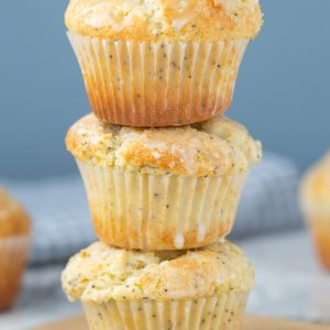 These are SO GOOD! Better Than Costco Almond Poppy Seed Muffins