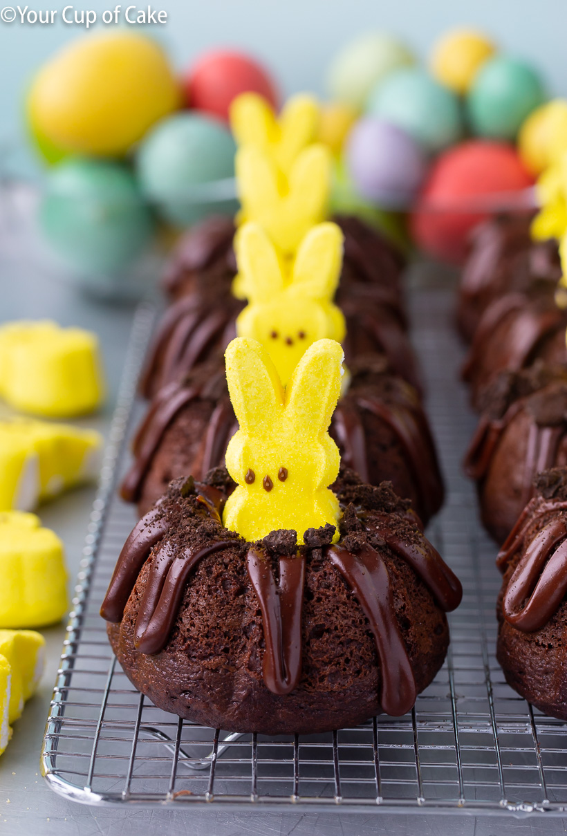 SO CUTE for Easter! Bunny Bundt Cakes