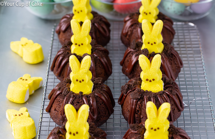 Easy Bunny Bundt Cakes for Easter