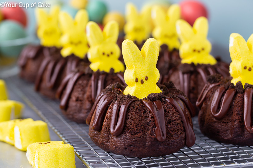Bunny Bundt Cakes made with PEEPS