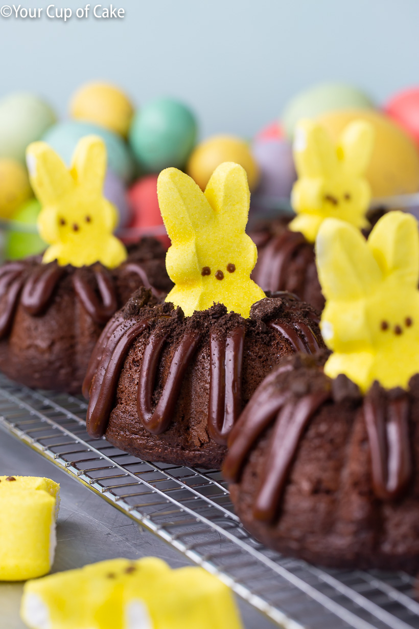 Easy and cute Easter dessert idea! Bunny Bundt Cakes