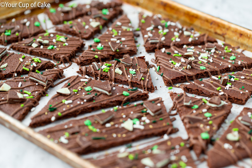 The perfect Chocolate Mint Brownie Bark